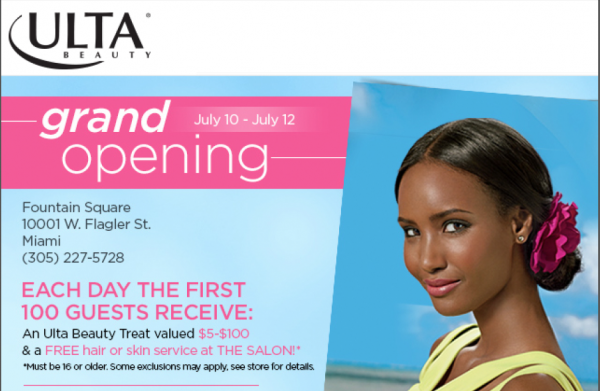 Ulta Beauty Miami Opening Invite