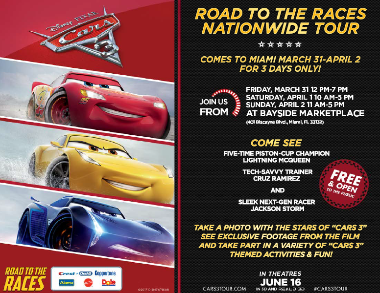 Calling All Fans Of DisneyPixar Cars Movies To Celebrate The Upcoming Release 3 On June 16th Life Size Character Look Alikes Five Time